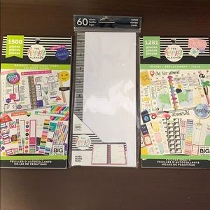 The Happy Planner 2 sticker books and paper